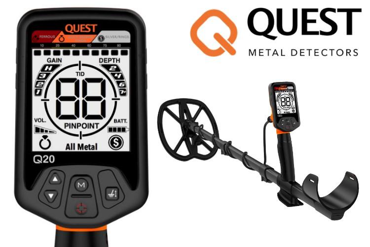 Quest Q20 Raptor Metalldetektor & Xpointer Pinpointer & Schatzsucherhandbuch