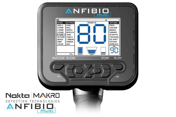 Nokta/Makro Anfibio Multi Metalldetektor mit Funkkopfhörer und Gratis-Pinpointer