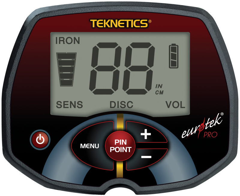 Teknetics Eurotek PRO (LTE) Metalldetektor mit 11DD Spule