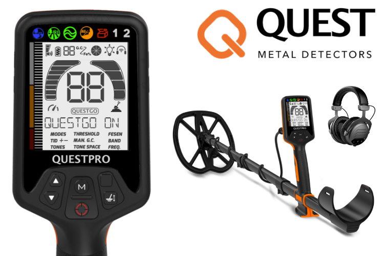 Quest PRO Metalldetektor (neuestes Modell)