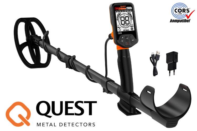 Quest Q20 Metalldetektor mit Fundtasche gratis