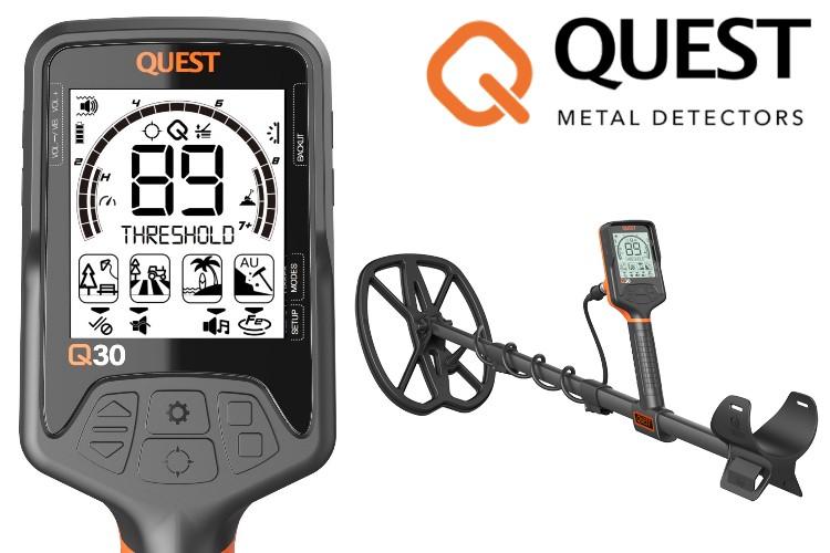 Quest Q30+ Metalldetektor mit Funkkopfhörer