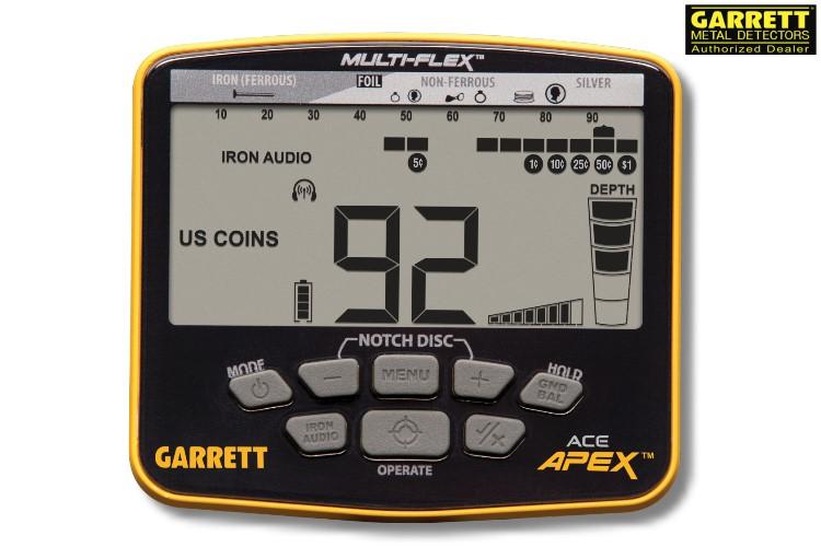 Garrett ACE APEX Metalldetektor mit Funkkopfhörer (wireless)