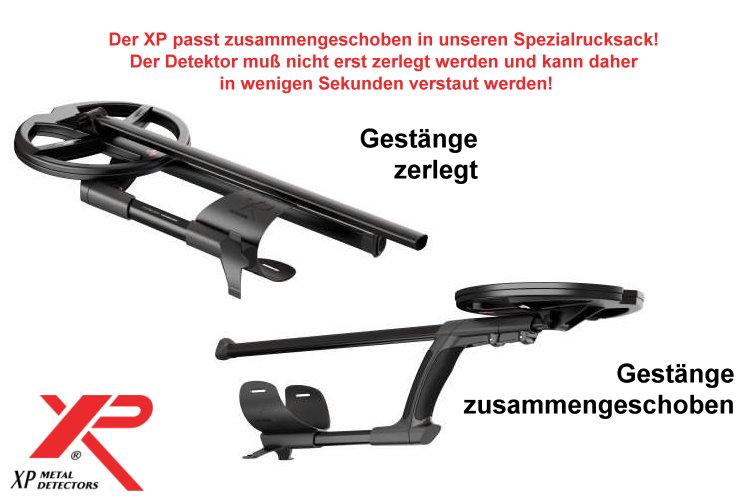 Metalldetektor XP DEUS X35 mit Display und 22.5cm Spule